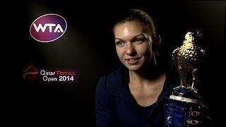 Simona Halep on Winning 2014 Qatar Total Open