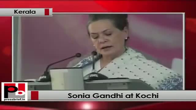 Sonia Gandhi: women in Kerala are the best educated in the country