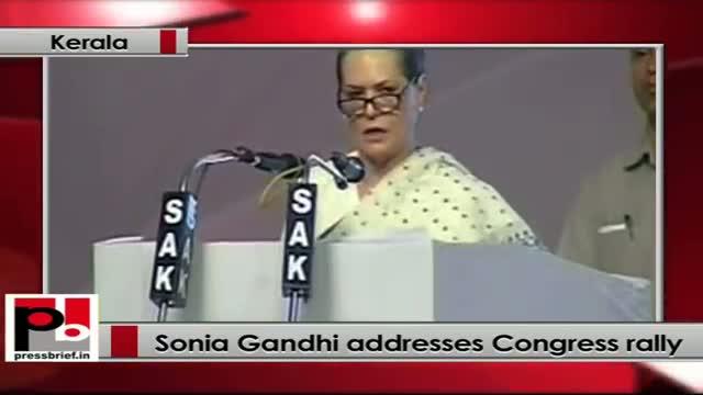 Sonia Gandhi lauds UPA govt policies