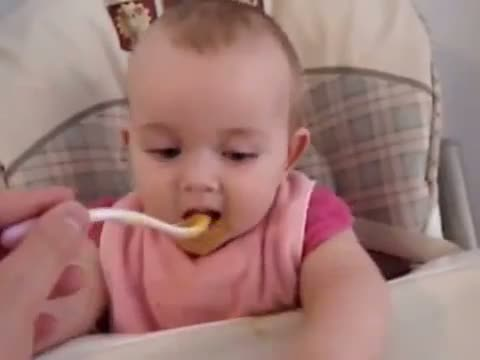 Happy funny baby laugh video