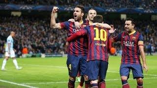 Manchester City vs Barcelona 0-2 All Goals & Highlights UEFA Champions League (18/02/2014) HD