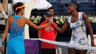 2014 Dubai Duty Free Tennis Championships Day 3 WTA Highlights Video