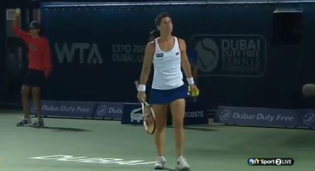 Carla Suarez Navarro vs Alize Cornet (WTA Dubai 2014)