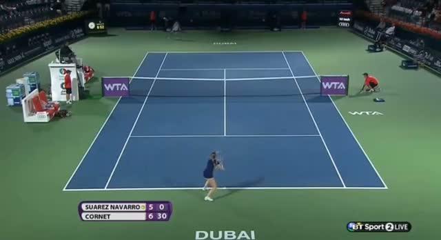 Carla Suarez Navarro vs Alize Cornet (WTA Dubai 2014) Part 2