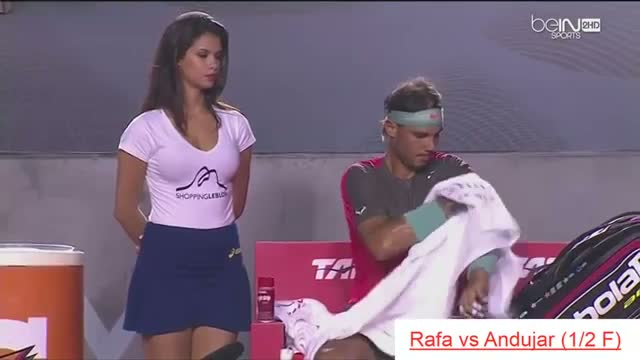 Beautyful HOT GIRL of Rafael NADAL - Funny Moments Tennis Rio Open 2014