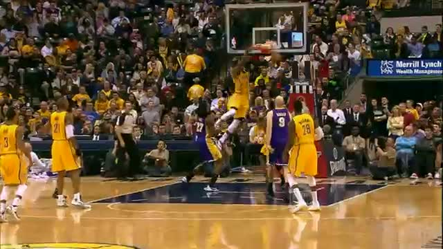 NBA: Paul George Throws Down the Fancy Oop Finish