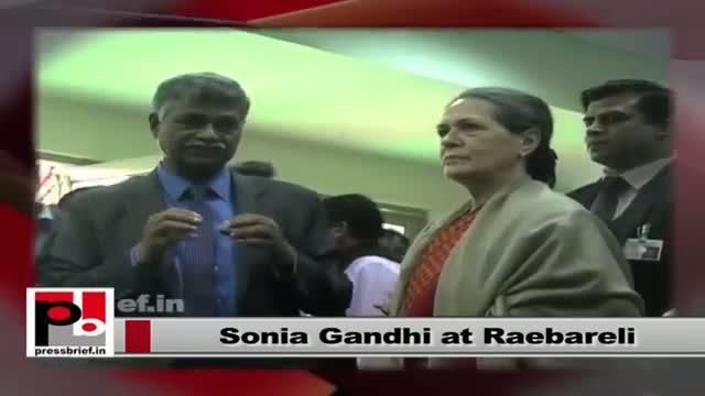 Sonia Gandhi reviews progress of development works in Raebareli
