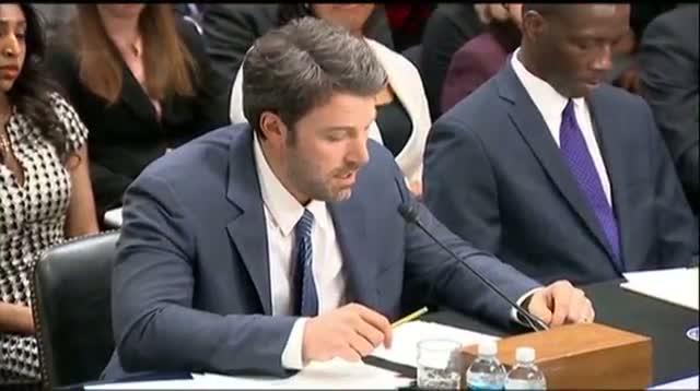 Affleck Brings Congo Concerns to Washington
