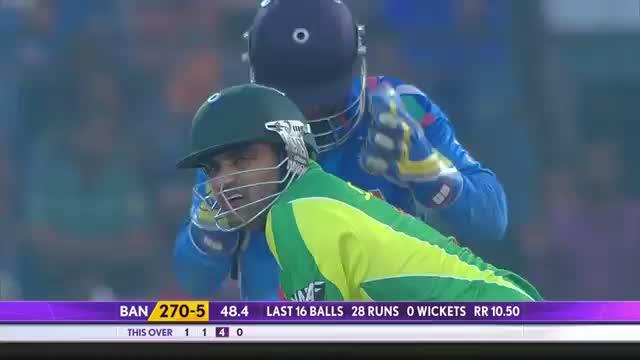 Varun Aaron took a stunning catch of Ziaur Rahman (Asia Cup 2014 - 2nd ODI, Ban vs Ind)