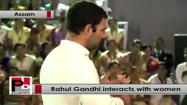 Rahul Gandhi in Assam, interacts with women, Part 02