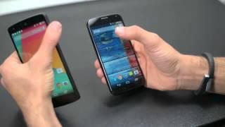 Nexus 5 vs. Moto X Dogfight Samsung Galaxy Nexus vs. Motorola DROID RAZR Dogfight Part 1Google Nexus