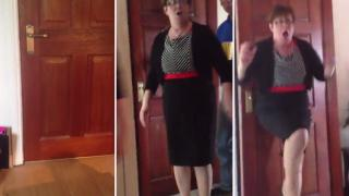 Irish Mother's Reaction To Her Son's Surprise Visit