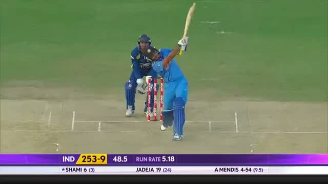 Mohammed Shami smashed 2 huge Sixes (Asia Cup 2014 - 4th ODI, Ind vs SL)