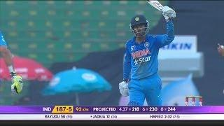 Ambati Rayudu gets 1st half century against Pakistan (Asia Cup 2014 - 6th ODI, Ind vs Pak)
