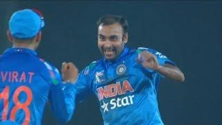 Amit Mishra gets Ahmed Shehzad and Umar Akmal wickets (Asia Cup 2014 - 6th ODI, Ind vs Pak)