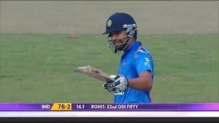 Rohit Sharma scored 22nd half century, 4th against Pakistan (Asia Cup 2014 - 6th ODI, Ind vs Pak)