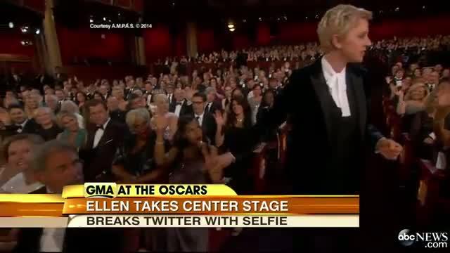 Oscars 2014 Ellen Degeneres Best Oscar Moments Ellen Oscar Selfie HD