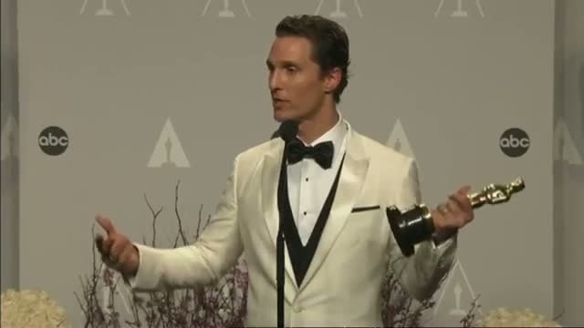 Oscars 2014 Winners Room: Matthew McConaughey on unexpected Best Actor win