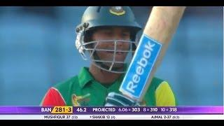 Shakib-Al-Hasan scores 44 runs at 275 strike rate (Asia Cup 2014 - 8th ODI, Ban vs Pak)