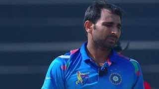 Mohammed Shami removes 2 wickets (Asia Cup 2014 - 9th ODI, Ind vs Afg)
