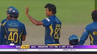 Suranga Lakmal gets Mahmudullah and Nasir Hossain wickets (Asia Cup 2014 - 10th ODI, Ban vs SL)