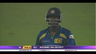 Angelo Mathews 19th ODI fifty denies host a win in the series (Asia Cup 2014 - 10th ODI, Ban vs SL)