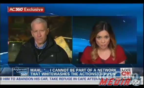 """Anderson Cooper Interviews Liz Wahl RT Anchor Who Quit - """" RT Is Not About Truth """" - 3-5-14"""