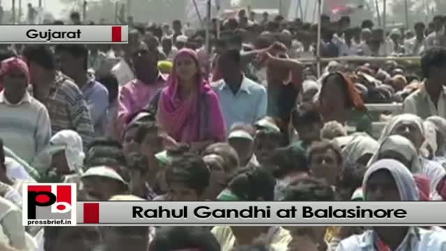 Rahul Gandhi at Congress rally: Gujarat is shining only for some business houses, part 02