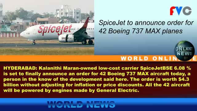 SpiceJet to announce order for 42 Boeing 737 MAX planes