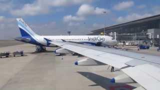 Indigo Airlines landing at Hyderabad Airport Video