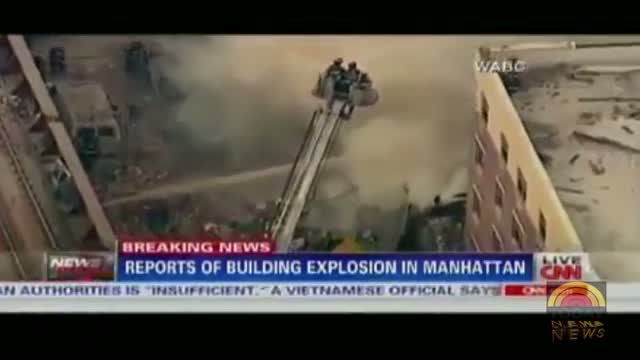 East Harlem building explosion - Huge fire Building collapse new york 3/12/2014
