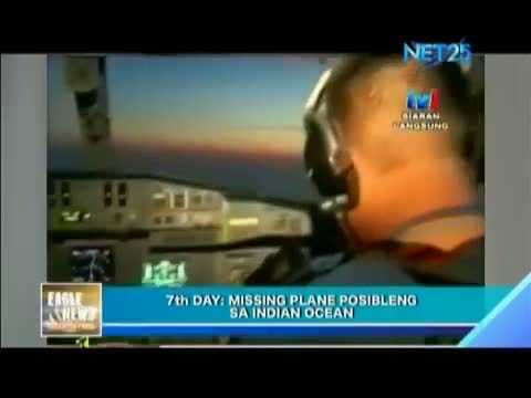 Missing plane possibly in Indian Ocean