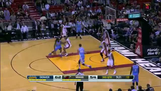 NBA: Kenneth Faried Leads the Nuggets Over the Heat