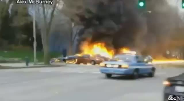 KING 5 News Helicopter Crashes into Cars Beside Space Needle in Seattle
