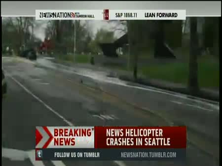BREAKING News: KOMO, KING5 News Helicopter Crashes, Burns in Downtown Seatle, Space Needle