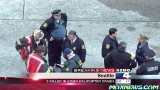 SEATTLE KOMO 4 NEWS HELICOPTER CRASHES UNDER SPACE NEEDLE!