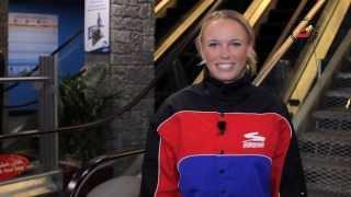 Caroline Wozniacki at Ski Dubai - Full of Surprises Travel Show presented by Dubai Duty Free