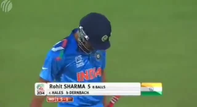 ICC T20 World Cup 2014 - Rohit Sharma Wicket - Ind vs Eng (Full Match Highlights) - Warm Up Match