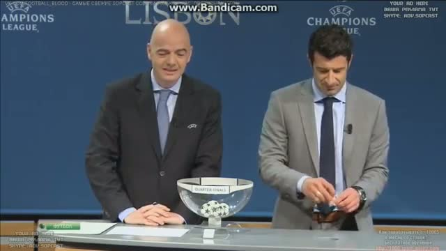 UEFA Champions League - Draw of the Quarter Finals 2014 FULL HD 21-03-2014
