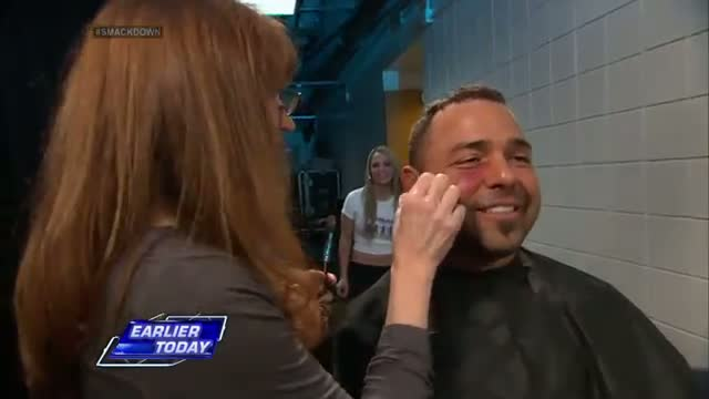 Emma sneaks up on a flustered Santino: WWE SmackDown, March 21, 2014