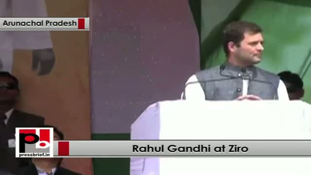 Rahul Gandhi: Rajiv Gandhi has given the statehood to Arunachal Pradesh