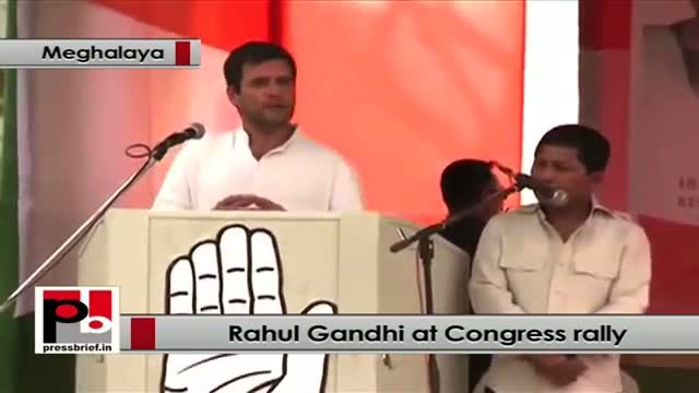 Rahul Gandhi at Meghalaya: You can build your houses in any part of this country