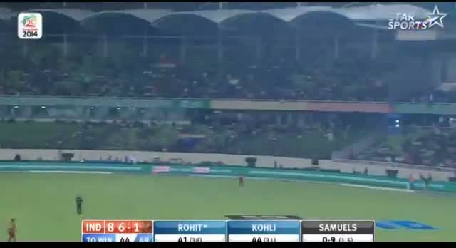 India Innings - Sixes , Fours and Wickets - India vs West Indies T20 - ICC World T20 Cup 2014 (Cricket Video) - 23.3.2014