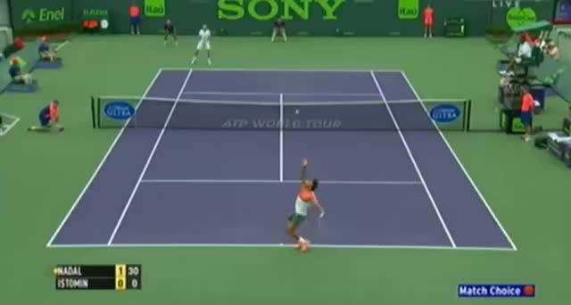 Rafael Nadal vs Denis Istomin (ATP Miami 2014) - Tennis Video