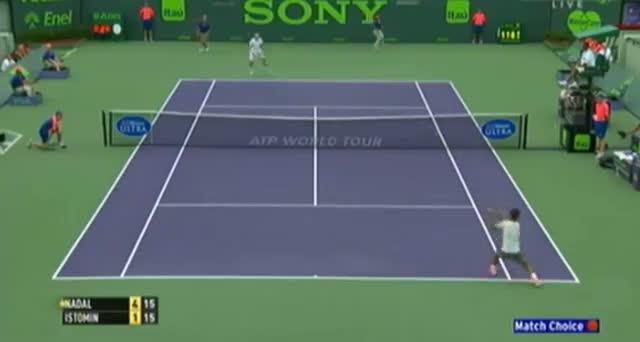 Rafael Nadal vs Denis Istomin (ATP Miami 2014) - Tennis Video - Part 2