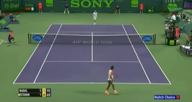 Rafael Nadal vs Denis Istomin (ATP Miami 2014) - Tennis Video - Part 3
