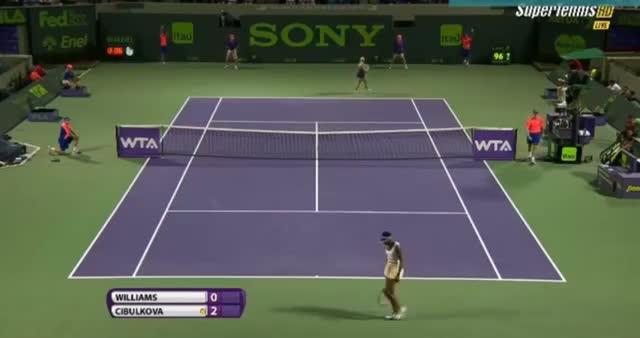 Venus Williams vs Dominika Cibulkova (WTA Miami 2014) - Tennis Video