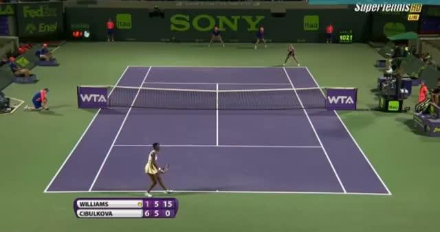 Venus Williams vs Dominika Cibulkova (WTA Miami 2014) - Tennis Video - Part 5