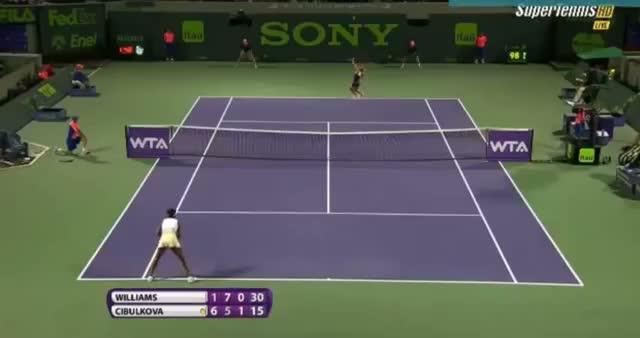 Venus Williams vs Dominika Cibulkova (WTA Miami 2014) - Tennis Video - Part 6