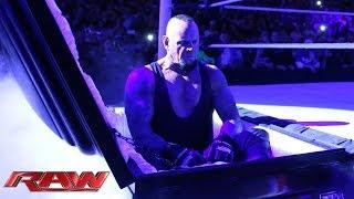 Undertaker rises from a coffin to attack Brock Lesnar: WWE Raw, March 24, 2014